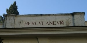 Herculaneum in oud schrift